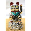 "4.5"" Silver Money Cat - battery powered"